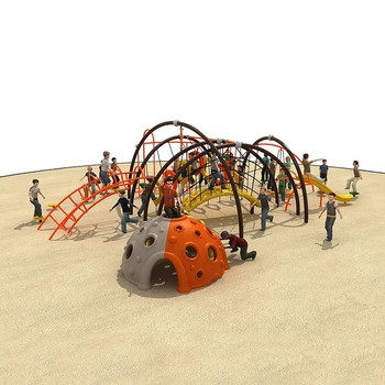 Big size hot selling multiple children outdoor climbing playground