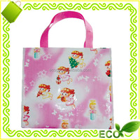 reusable recyclable promotional tote beach handled fashionable pp woven easy carry portable shopping bag