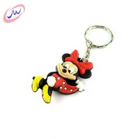 Professional production best quality 3d helicopter pvc keychain