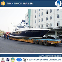 trailer transport yacht , hydraulics semi boat trailer for sale