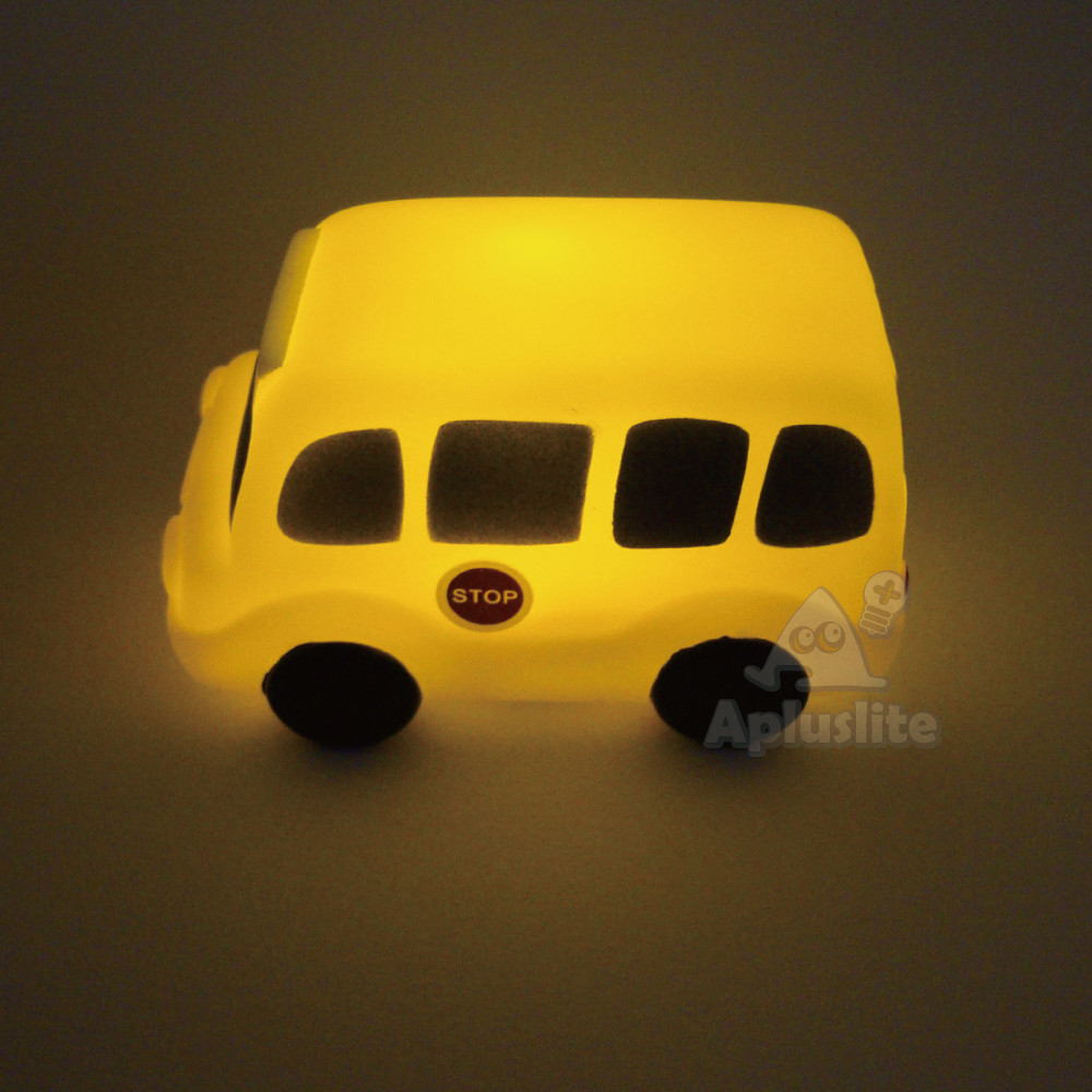 Mini Light Battery Operated School Bus LED Light Toy