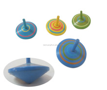 Wooden Classic Round-shaped Spinning Top Toy