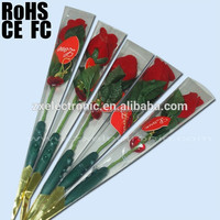 New Design Recordable Voice or Sound Talking Rose Flower Music Gift