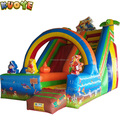 cartoon inflatable air slider, inflatable slide trampoline