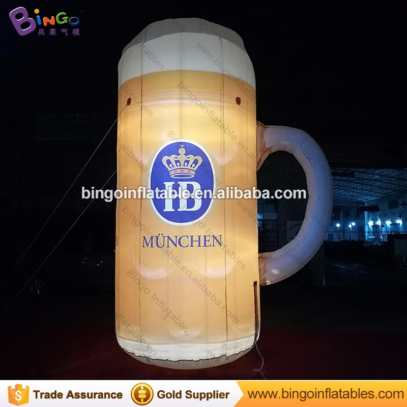 Hot sale LED lighting inflatable coffee cup air beer cup