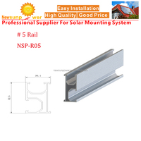 Newsunpower aluminum rail #5 for rooftop PV Solar panel mounting structures/brackets