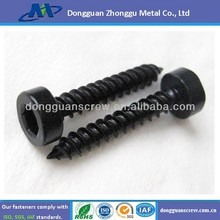 black anodized self tapping screw