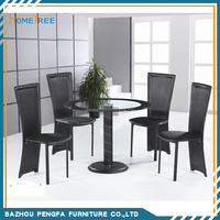 Modern types of dining tables designs with glass