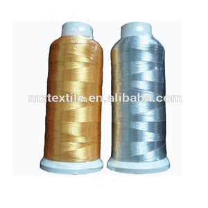 75D Gold and Silver Color Viscose Nylon Embroidery Thread