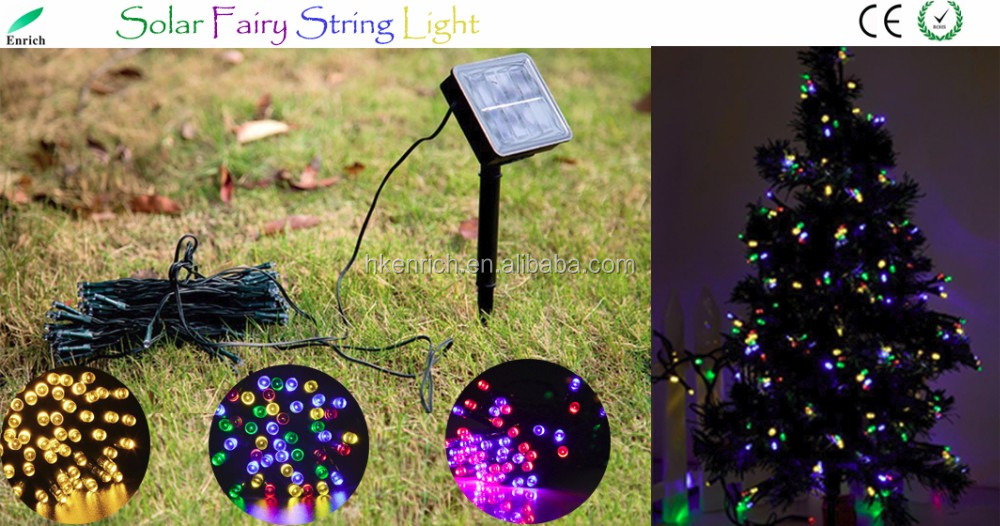 Solar Christmas White Lights 200 LED Waterproof Solar Light String Outdoor for Gardens
