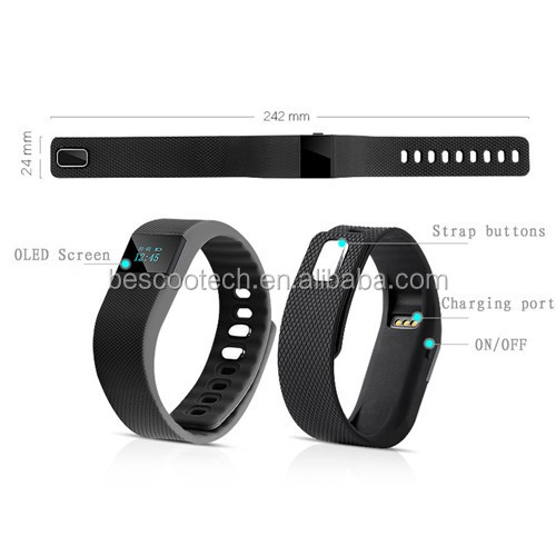 2016 Fitness Activity Tracker Bluetooth 4.0 smart watch Sport Bracelet Smart Band Wristband Pedometer For IOS Android TW64