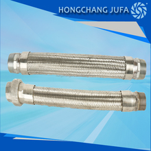pipe connection type stianless steel flexible braided metal hose for water heater