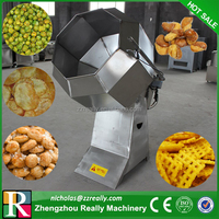 Fully stainless steel popcorn / nuts/ potato chips / snacks coating & flavoring machine price