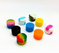 FDA approved food grade 2ml non stick wax bho dab oil mini silicone small rubber containers