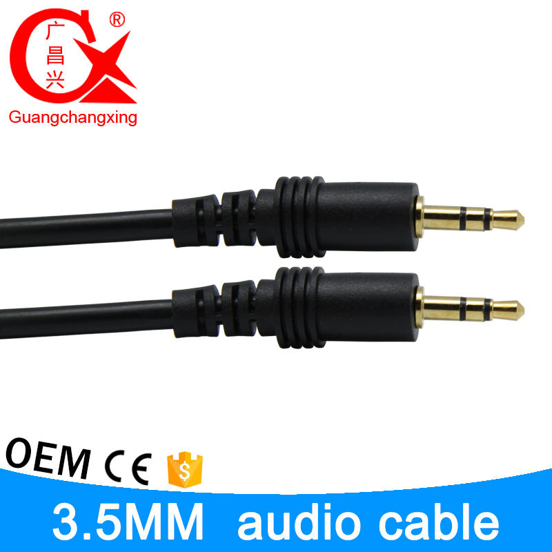 15m black 3.5mm male to male poly bag l shape rca audio video cable
