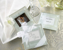 Good Wishes Glass Photo Coaster Favors