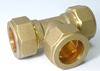 Brass Coppere Fitting Tee Copper Fitting Compression Copper fitting plumbing
