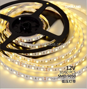 Waterproof DC 12V 5050 Single Color LED Flexible Strip Light