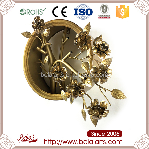 Gold flower shaped show pieces for home decoration