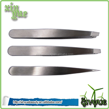 stainless steel tweezers set slant flat tweezers manufacturer