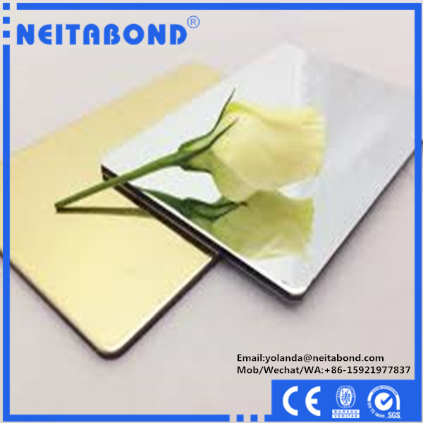 Mirror Surface aluminum composite panel wall cadding used in dance room
