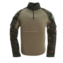 US army suit woodland tactical combat shirt digital woodland uniform shirt