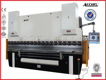 CNC Press Brake Delem 160 tons with 5 axis(Y1, Y2,X,R,W) Delem DA56s CNC System and Safety System MB8-160T/3200