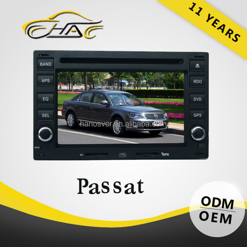 HANOSVOR 2 Din Car GPS Navigation Monitor Radio for vw passat/polo/golf
