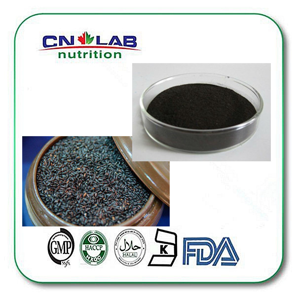 Black rice bran extract 98% Ferulic Acid Powder,seeds powder