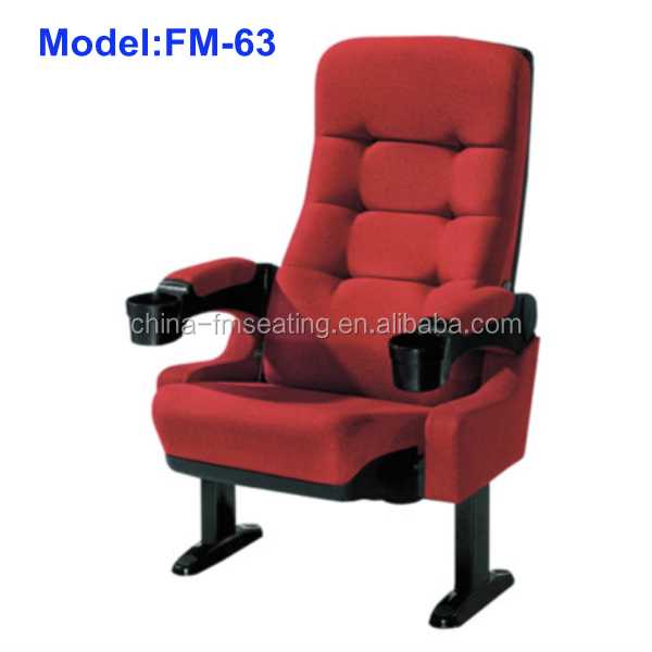 high back 3d cinema chair seat foldable