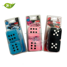 New Design High Quality Hanging Car Fuzzy Dices With Air Freshener