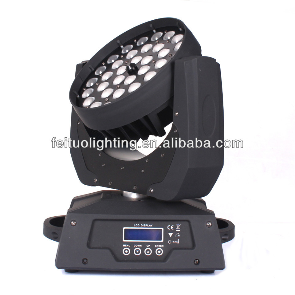 36 pcs 10w rgbw 4 in 1 led moving head zoom led wash light, 36x10w led moving head