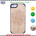 2016 New fashion real wood pc case for iphone 6s 7 wooden iphone 6s case IPC337H