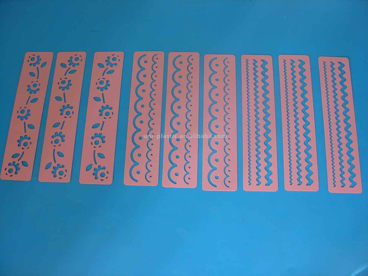 Reliable and good PVC material plastic shape stencils
