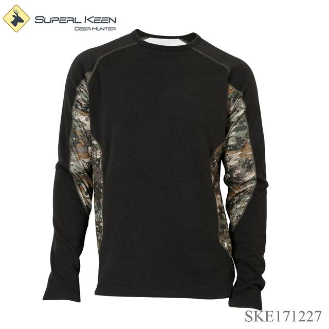 Camouflage long sleeve thermal tee shirt