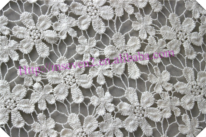 2016 new egyptian off white embroidered cotton lace fabric for dress
