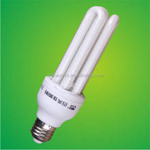 2016 new design U Shape and CFL Principle E27 energy saving lamps/3u 7W