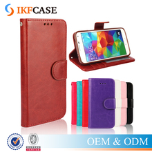 Crazy Horse Skin Card Slot Wallet Case for Samsung Galaxy S5 Leather Cover Inner TPU Stand Case