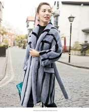 latest style popular natural mink fur coat for winter warm women