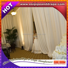 ESI Adjustable pipe stands and draping fabric for weddings