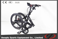 "Dengfu Carbon 20"" high quality light weight cheap folding bike oem manufacturer"