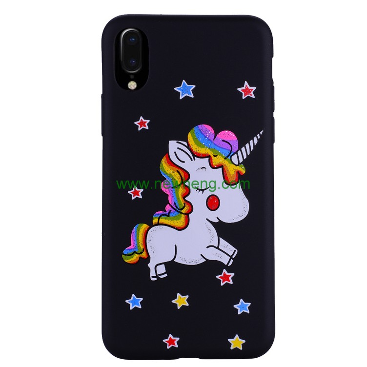 Luxury glitter unicorn silicone mobile phone case for iphone X