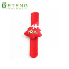 High quality christmas hanging santa claus gifts led light clap ring
