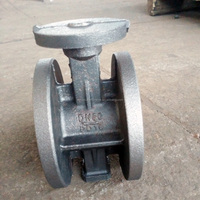 Lose wax butterfly valve castings ductile iron body
