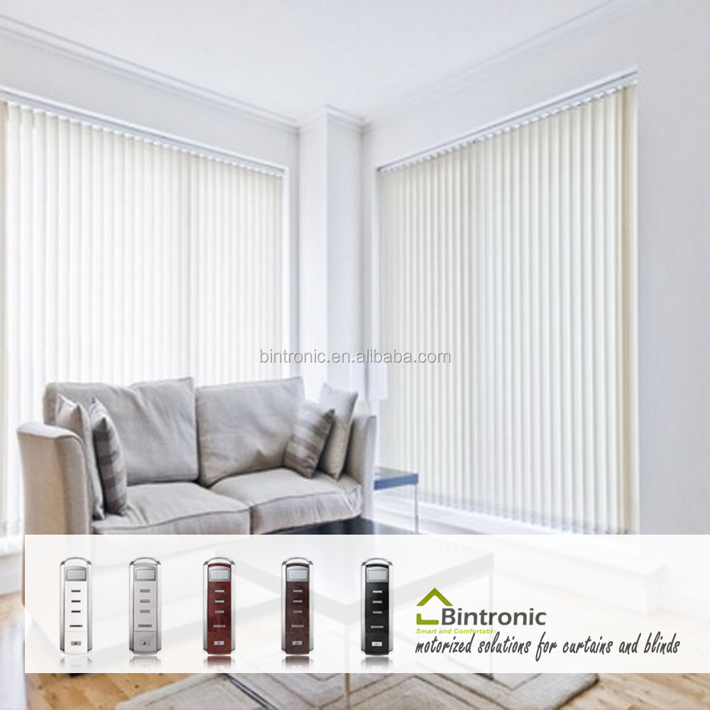 Bintronic Taiwan Power Blinds Electric Motorized Vertical Blinds Electrical Remote Control Curtain System