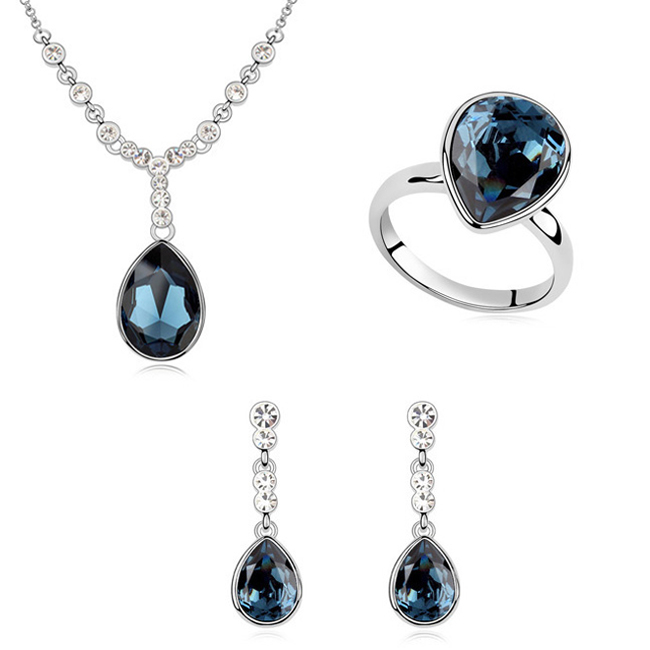 wholesale Beautiful jewelry Made With Swarovski Element crystal drop jewelry set