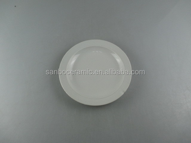 Wholesale Cheap white microwave ceramic dish tableware plate