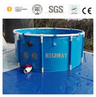 High quality Indoor or outdoor pvc collapsible tropical fish farm for sale
