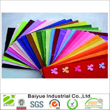 100% polyester needle colorful felt