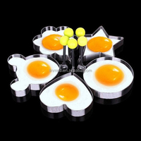Different Shapes Stainless Steel Pancake Mold Boiled Egg Mold